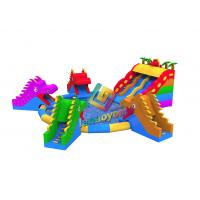 China Giant Inflatable Dragon Water Park Combo / Blow Up Slide Aqua Park For Toddlers on sale