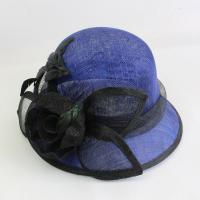 Buy cheap Hot sale short brim sinamay hats for church horse racing hats for lady product