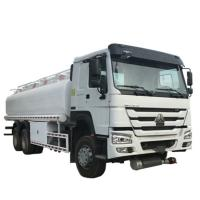 Quality 20000 Liters 6000 Gallon Diesel Oil Transporter Fuel Tank Truck Sinotruk Howo White Color wholesale