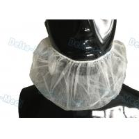 Quality Disposable White Elastic Surgical Beard Cover , 10gsm PP Disposable Beard Net wholesale