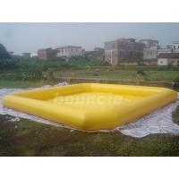 Quality Yellow Color Outdoor Inflatable Water Pool With Reinforcement Strips wholesale