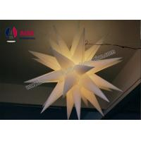 Quality Christmas Inflatable Led Star Decoration For Club Hanging , 1 Years Shelf Life wholesale