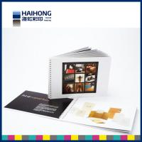 Quality Hardcover Spiral Bound Booklet Printing with single or double wire O bound Binding wholesale