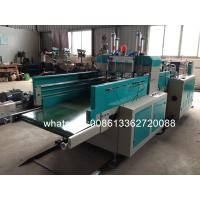 Cheap Double Deck T Shirt Bag Making Machine Plastic Bag Making Equipment With PLC for sale