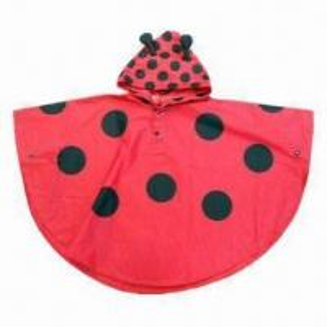 Quality Ladybird rain poncho/children's fashionable raincoat wholesale
