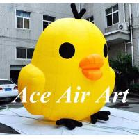 Quality custom cute little inflatable yellow chicken cartoon for advertising wholesale