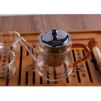 Quality Pyrex Microwave Heating Glass Tableware Teapots with Stainless Steel Infuser & Lid wholesale
