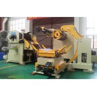 China 18KW Steel Coil Feeder Straightener Machine Cum Servo Roll Feeder 3 In 1 on sale