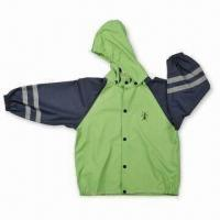 Quality Children's Raincoat, Made of PU Material, with Welded Seams wholesale