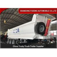 Buy cheap 3 Axles 40 Tons 28 Cubic Meters Transport Stone Dump Semi Trailer Selling from wholesalers