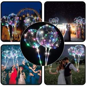 China Mini LED  Balloon String Lights Holiday Decoration Light Up Balloons Wedding on sale