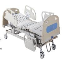 China Three Cranks Hospital Manual Hospital Bed  Detachable PP Head & Foot Board Medical Bed on sale