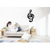 Cheap Antique Acrylic Wall Sticker Clock / Wall Art Stickers For Living Room for sale