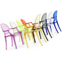Quality Decorative Polycarbonate Chair With Armrest Clear Louis Ghost Chair wholesale