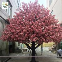 Quality UVG 4m Indoor home artificial cherry blossom landscape trees for birthday party decoration wholesale