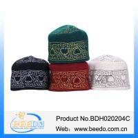 China Hot selling wool felt islam prayer muslim cap embroidery muslim hat on sale