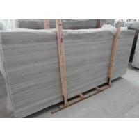 Quality Square Light Grey Marble Stone Slab Natural Stone Floor Tiles With Random Edge wholesale