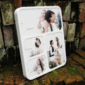 Quality wall-mounted white acrylic photo frame wholesale