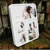 Quality wall-mounted white acrylic photo frame wholesale