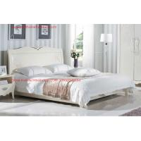 Quality Neoclassical style Bed furniture by Rubber solid wood in Pure white color from Italy design wholesale