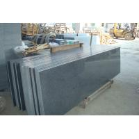 Quality Natural Granite Stair Treads And Risers , Black Gray Granite Slabs For Stairs wholesale