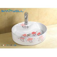 China Solid surface counter Ceramic Art Basin mirror cabinet 520*425*135mm on sale