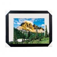Quality Eco-friendly 30x40CM 5D Lenticular Printing Services With PS Black Frame For Home / Hotel wholesale