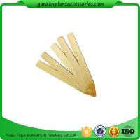 Quality Vegetable Bamboo Garden Plant Markers , Natural Wood Garden Stakes wholesale