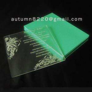 Quality customized acrylic invitation wholesale