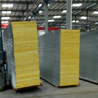 Quality insulated sandwich panel fireproof 50mm glass wool roof tile for worker camp wholesale