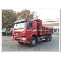 Quality Sinotruk howo new dump truck 25tons tipper truck Euro II 371hp red color wholesale