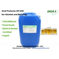 Quality High Activity Enzymes In Brewing Industry , 100000 U / ml Acid Protease Enzymes wholesale