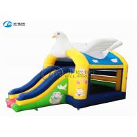 China playground kids dove jumping castle with slide on sale