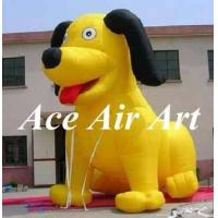 China giant 15ft blow up advertising yellow inflatable dog balloon for event decoration on sale