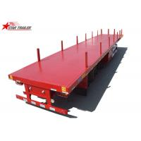 Quality 40-Foot Flat Panel Platform Semi Trailer With Cuttings Platform And Waterproof Cover wholesale