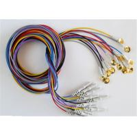 Quality Colorful EEG Cables With Sliver Plating Cup Electrodes Shielding Wire Optional wholesale