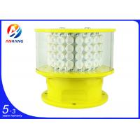 Quality AH-MI/A flashing red LED medium intensity aviation obstacle lights with GPS synchronization wholesale
