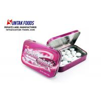 Quality Black Currant Flavor Meta Tin Box Candy Round Shaped Eco-Friendly wholesale