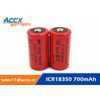 Cheap ICR18350 700mAh 3.7V li-ion battery 18350 for led, cordless phone, home for sale