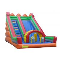 China Kids Commercial Inflatable Slide Colorful UV Resistance With Side Climbing Ladder on sale
