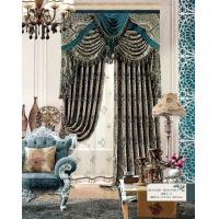 Quality Multi Color Floral Jacquard Sheer Lace Curtains Ready Made Window Curtain for Living Room wholesale