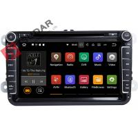 Quality PURE Android 7.1.1 VW Car DVD Player GPS Navigation Screen Mirroring Function wholesale