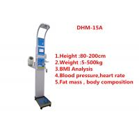 Quality Medical height weight scales with fat mass , blood pressure, body water and BMI wholesale