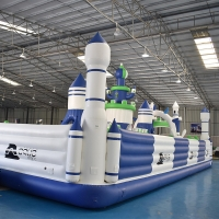 Quality Airtight Floating Game 0.9mm PVC Inflatable Fun City Castle wholesale