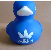 Cheap Customized Logo Blue Baby Rubber Duck 8cm Height Promotional Gift 16P Free for sale