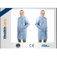 Buy cheap Nonwoven Disposable Lab Coats Protective Medical Clothing with Collar and Zip from wholesalers