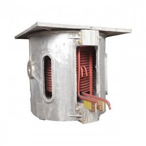 China Industry Cast Iron Ingot Induction Melting Furnace 1.5 Ton Steel Loading Capacity on sale