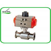 Cheap Elegant Design Sanitary Ball Valves Stainless Steel , Pneumatic Actuated Ball Valve for sale