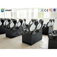 Quality Black Luxury Seats 7D Movie Theater Genuine Leather Fiberglass Interactive Games wholesale