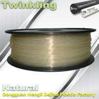 Quality ±0.03 Tolerance Roundness 3d Printing Filament 1.75 3.0mm Transparent Color wholesale